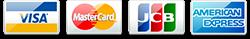 対応クレジットカード VISA MASTER JCB AMEX